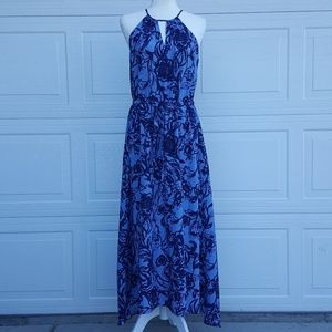 Ann Taylor Loft Floral High Low Dress W/ Tie Waist